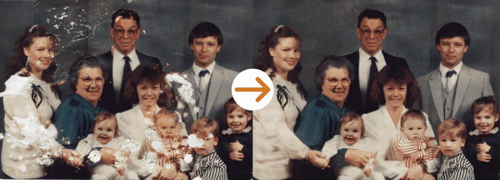 people family photo restoration