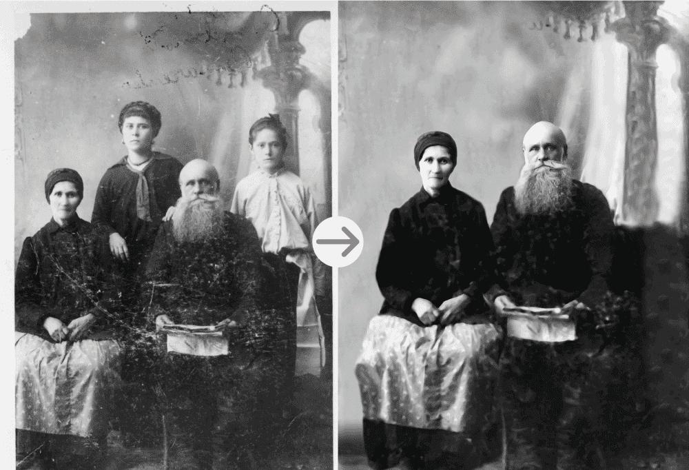 russian family photo restoration