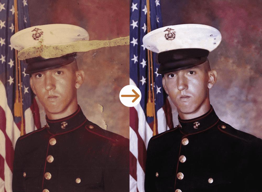 soldier photo restoration