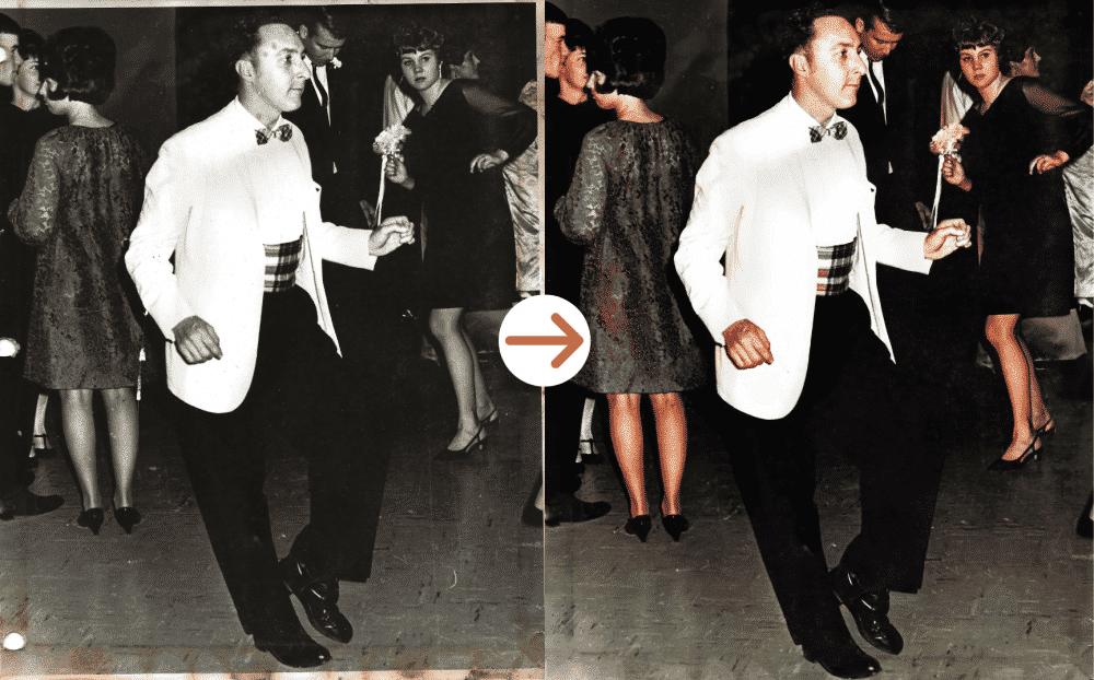 dancing man photo restoration