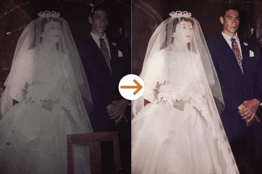 wedding photo restoration by memorycherish