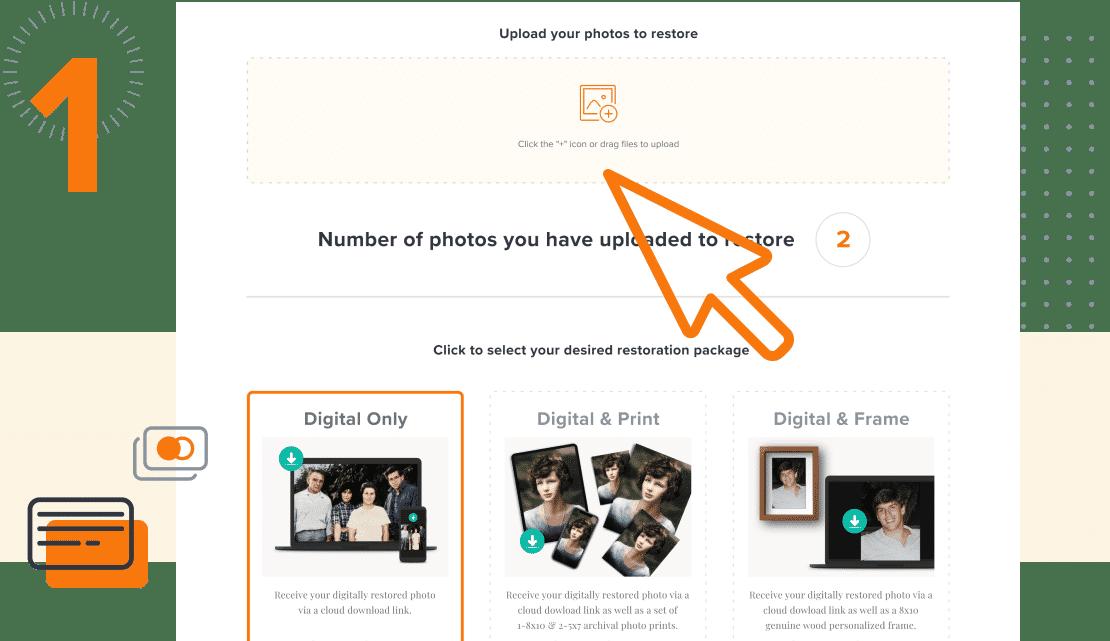how photo restoration works step 1
