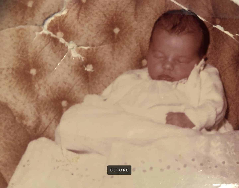 baby photo restoration